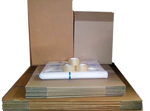 Bundle 1G  20 boxes (incl 10x104lt Teachest 10x52lt book) 5kg paper 2 tape