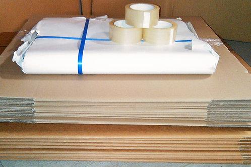 6B Bedroom Bundle 70 Boxes, 10kg paper, tape dispenser & tapes