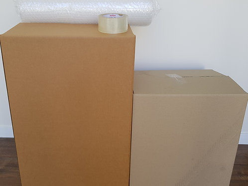 Studio Box Pack - 5 book boxes,  10 tea chest, bubble wrap & tape