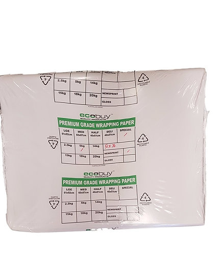 Packing Paper - 5kg (aprox 250 sheets) 510 x 760 - 45 gsm White