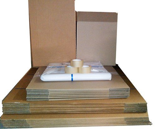 Bundle 2B - 30 boxes (incl 20x104lt Teachest 10x52lt Book) paper & tape