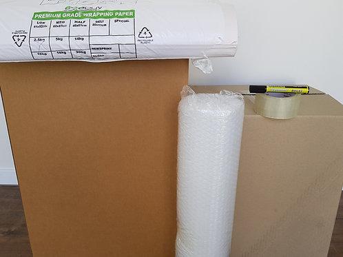 Student Bundle - 10 Book Boxes 5 Tea Chests paper tape bubblewrap