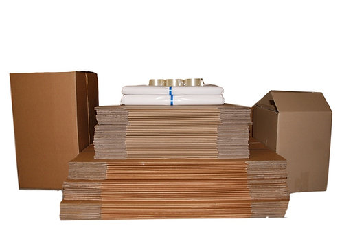 Complete Moving Pack 75 boxes  incl 45 Book, 30 Tea Chests 10 kg paper & more