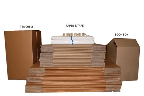 5 1/2 Bedroom Bundle - 30 /30 boxes, 10kg paper, Tape dispenser & tape