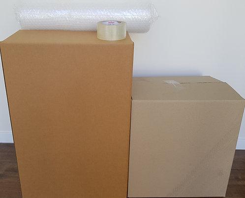 Studio Box Pack - 10 tea chest, 5 book box. bubble, tape