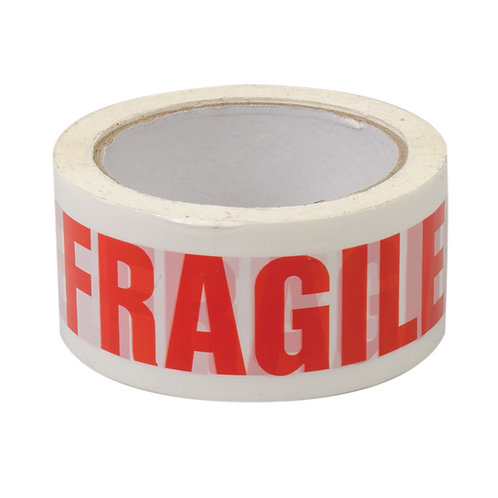 Fragile Tape 48mm x 75mt Roll Red and White Tape