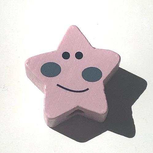 Etoile rose sourire