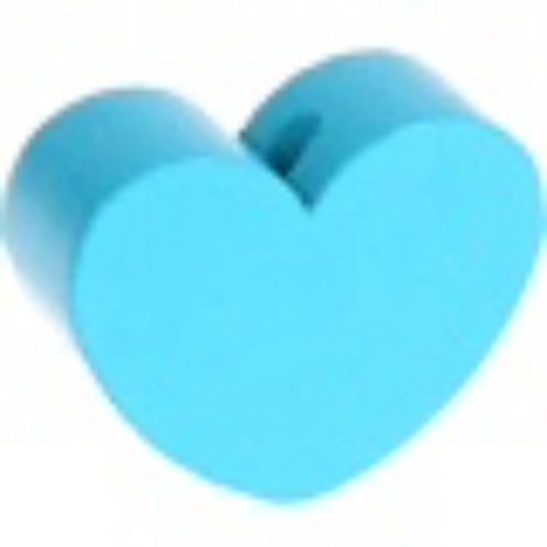 Perle coeur turquoise