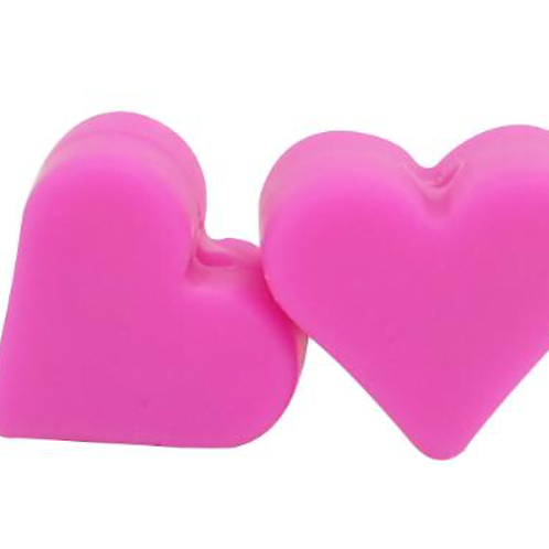 Perle silicone coeur