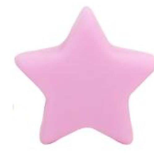 Perle etoile mini silicone rose