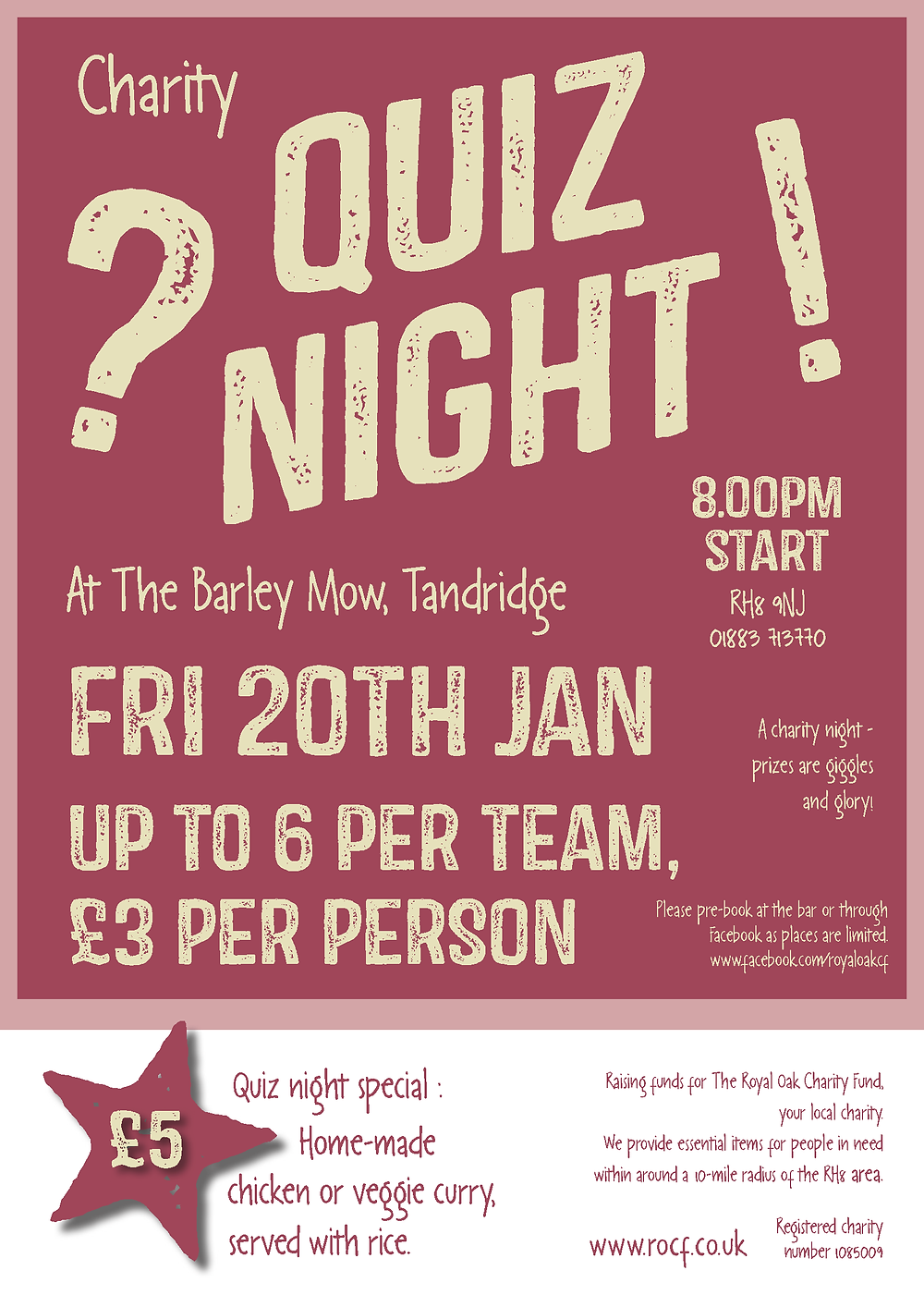 Quiz night poster