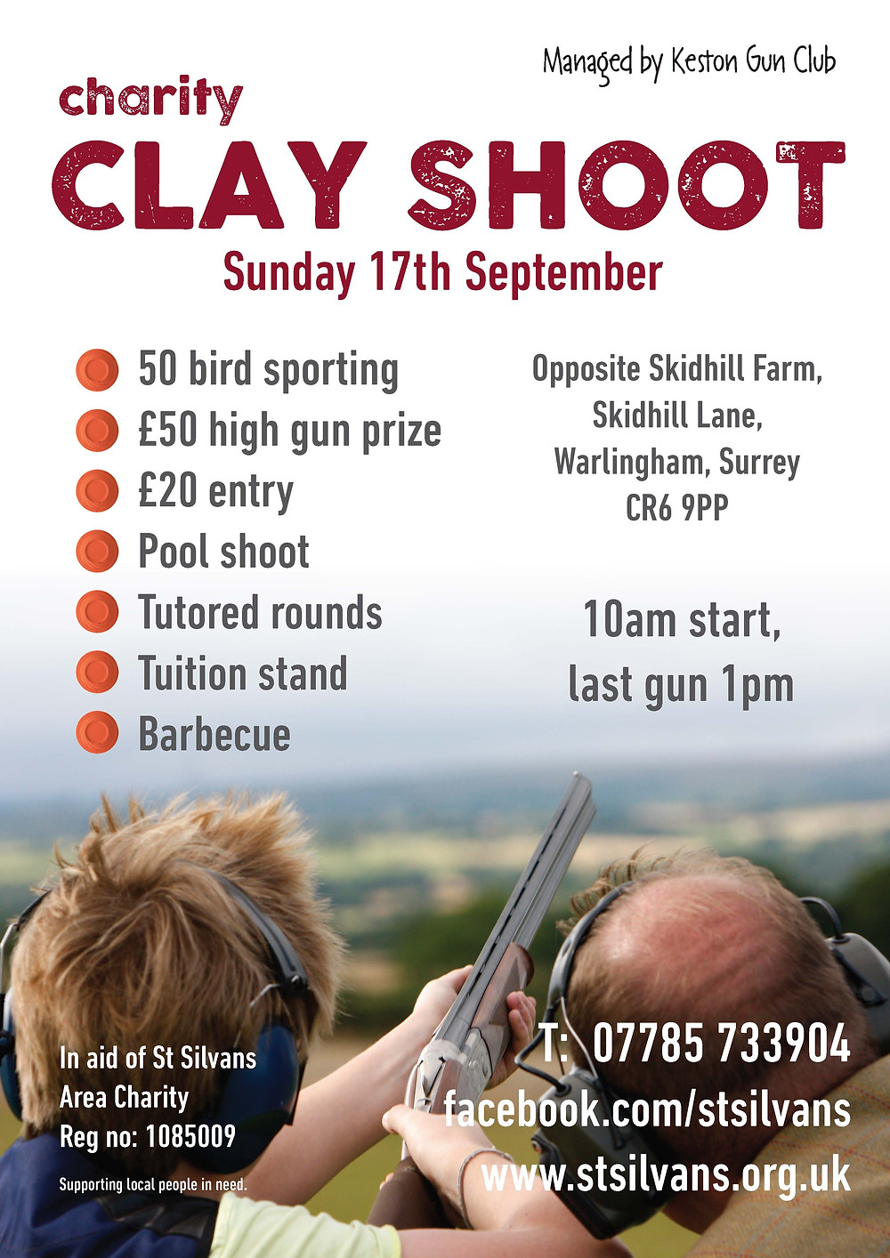 Clay shoot poster 2017
