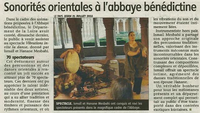 Vibrations invite la danse - Abbaye Char