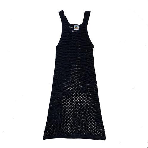 Vintage Retro Black String Vest Dress