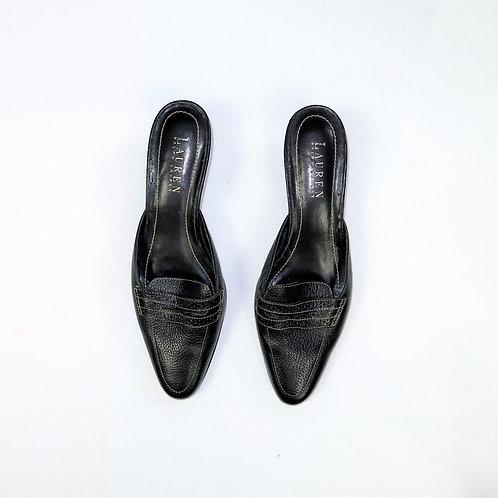 Vintage Ralph Lauren Slip On Kitten Heel Loafers
