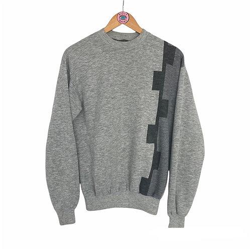 Vintage Grey Knitted Crewneck Jumper