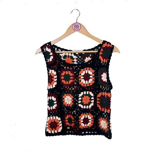 Boho Style Crochet Knit Tank Top