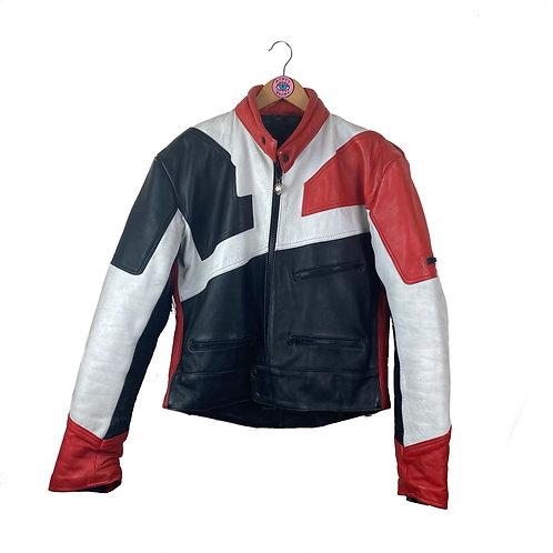 Vintage Buffalo Leather Biker Motorcycle Jacket
