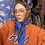 Thumbnail: Orange & Blue Checkered Silk Scarf