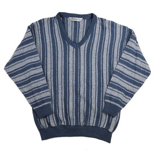 Vintage Navy Striped Knit Jumper