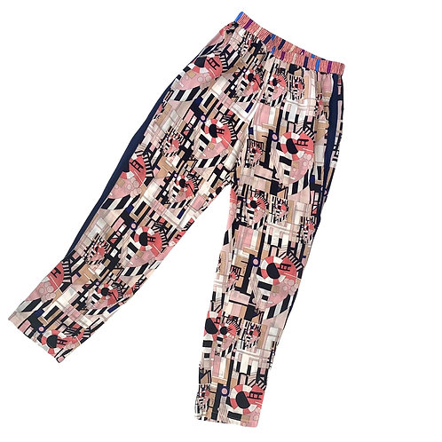 Funky Pink Patterned Trousers