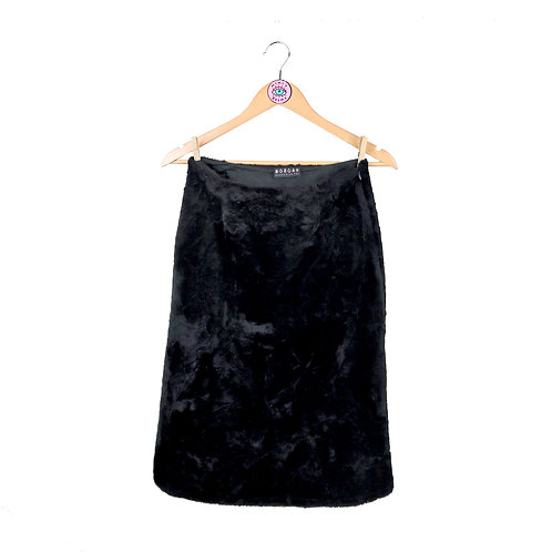 Vintage Morgan De Toi Crushed Velvet Midi Skirt