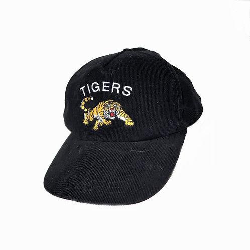 Vintage Black Tigers Cord Baseball Cap / Snapback