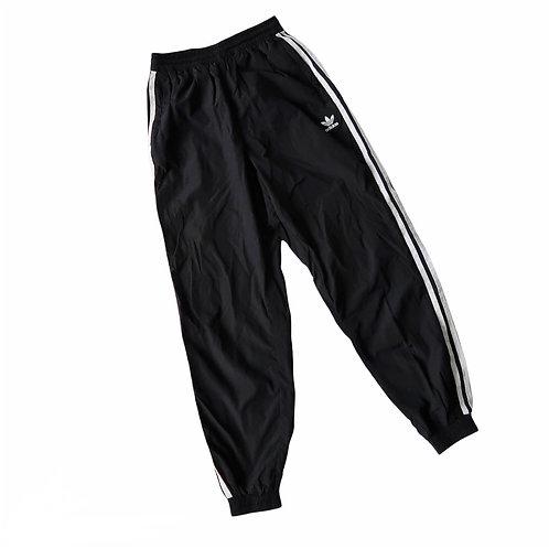 Waterproof Black Adidas 3 Stripe Tracksuit Bottoms