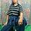 Thumbnail: Vintage Asics Striped Polo