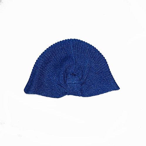 Glittery Blue Turban Hat