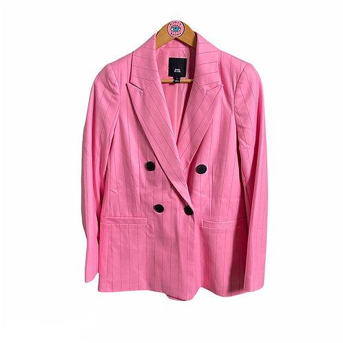 Pink Pinstripe Button Up Blazer