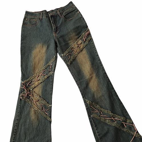 Vintage Y2K Flared Jeans With Detailing