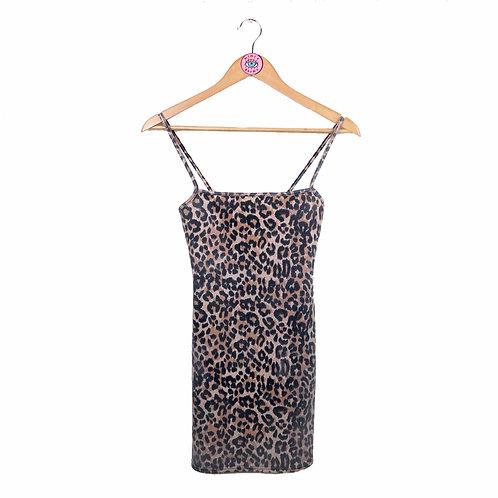 Leopard Print Bodycon Strap Dress