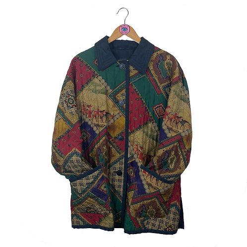 Rare Vintage Printed Quilted Jacket