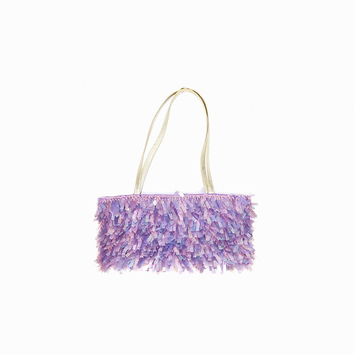 Vintage Mini Lilac Sequin Handbag