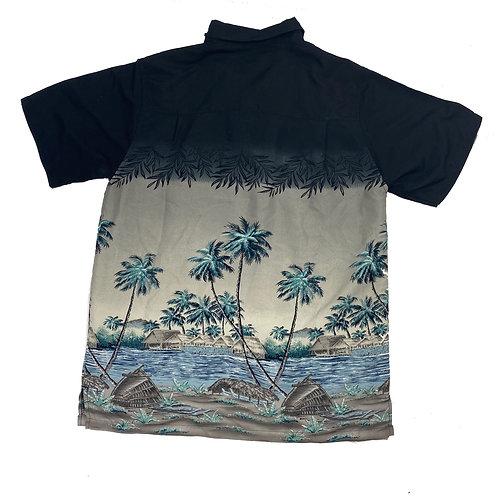 Vintage Retro Beach Print Shirt