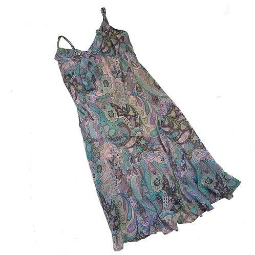 Vintage Paisley Lilac Flowy Dress