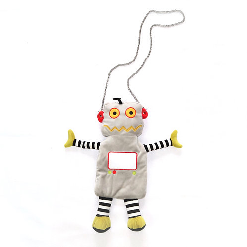 Cute Upcycled Plushie Robot Bag