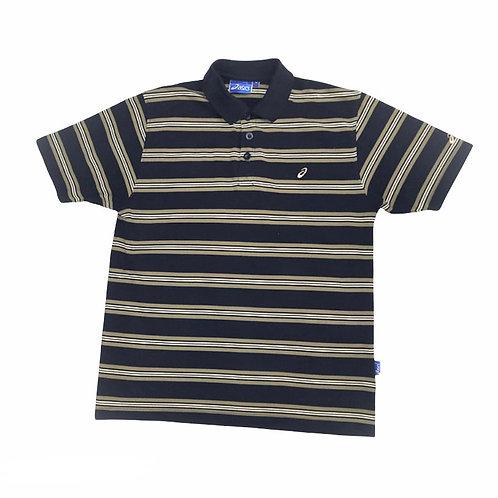 Vintage Asics Striped Polo