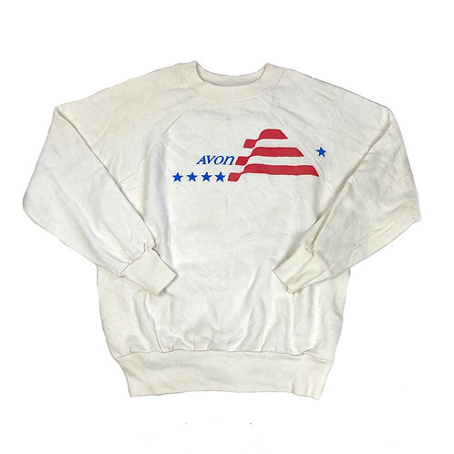 Vintage White Graphic Sweater