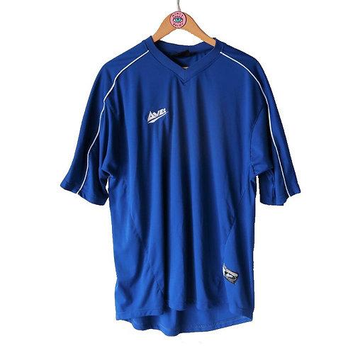 Vintage Blue V Neck Football Tee