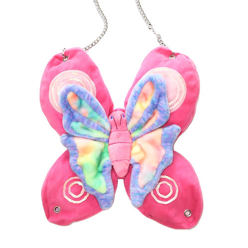 Upcycled Large Plushie Butterfly Bag