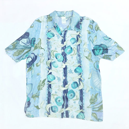Vintage Retro Design Pale Blue Pattern Shirt