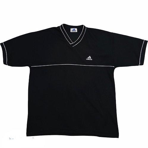 Vintage Black Adidas Equipment V Neck Tee