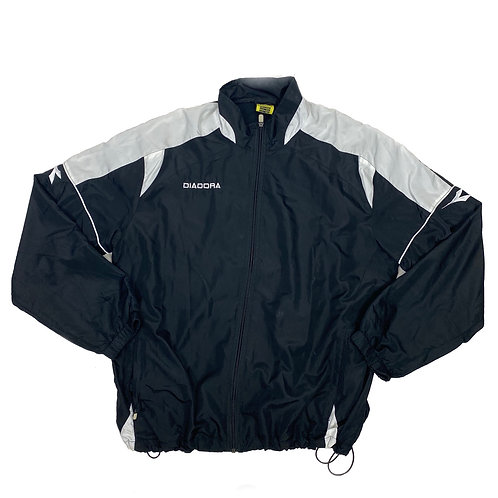 Diadora Black Zip Up Windbreaker