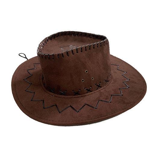 Suede Brown Cowboy Hat
