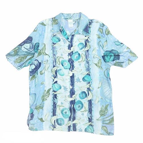 Vintage Retro Design Pale Blue Pattern Shirt