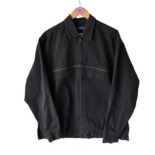 Vintage Denim Look Zip Up Jacket