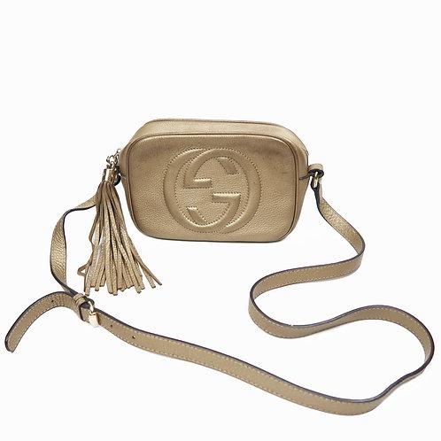 Bootleg Gold Gucci Bag With Tassle Zip
