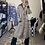 Thumbnail: Vintage Brown Retro Checkered Long Jacket